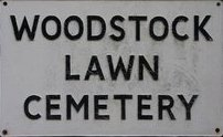 Woodstock Lawn Cemetery sign