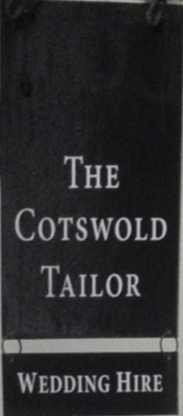 The Cotswold Tailor sign