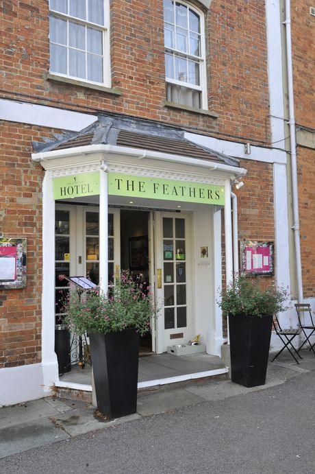 The Feathers entrance