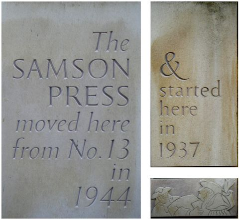 Samson Press plaques