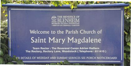 St Mary Magdalene sign