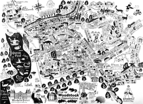 Hand-drawn Map of Woodstock