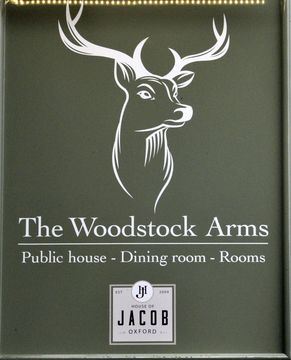 The Woodstock Arms sign